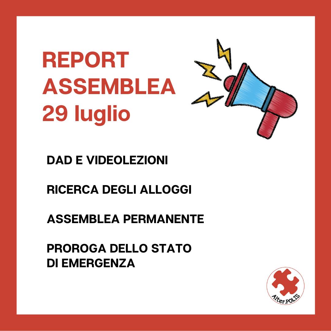 Report Assemblea Ripartenza